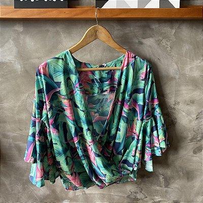 Blusa Cache Coeur Verde e Pink