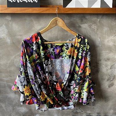 Blusa Cache Coeur Floral Dark