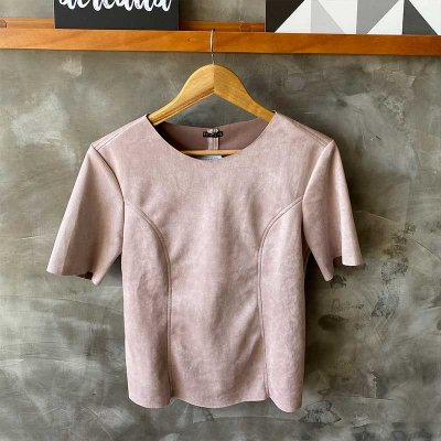 Tshirt Suede Blush