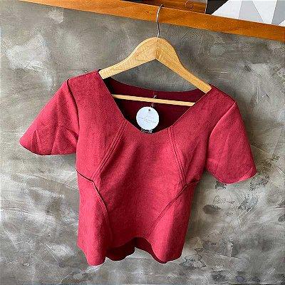 Tshirt Suede Marsala