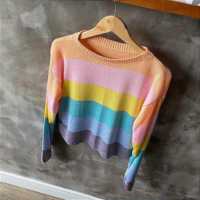 Tricot Listrado Rainbow