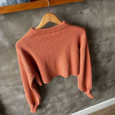 Tricot Over Cropped Ferrugem
