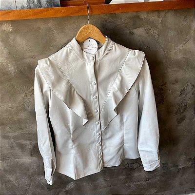 Camisa Courino Babados Branca