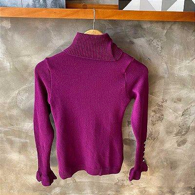 Tricot c/ Botões Punho Purple