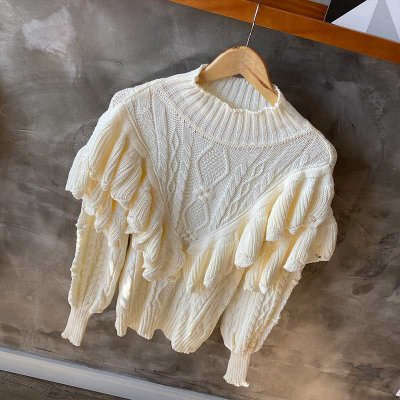 Maxi Tricot Babados Off White