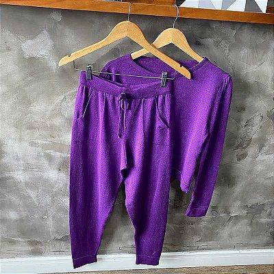 Conjunto Tricot Modal Purple