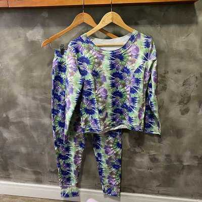 Conjunto Comfy Tie Dye Purple