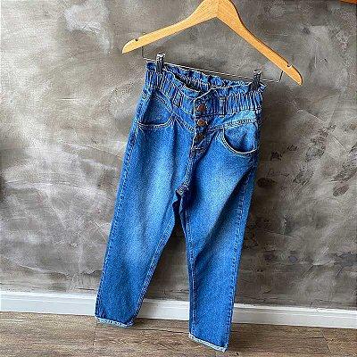 Calça Jeans Slouchy Botões