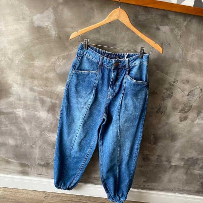 Calça Jeans Jogging Lavagem Escura