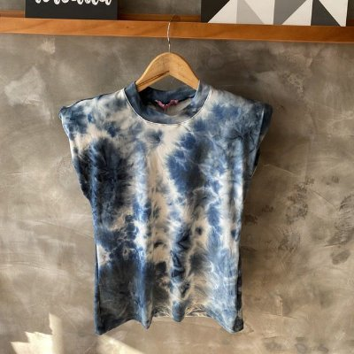 T-Shirt Muscle Tie Dye Azul