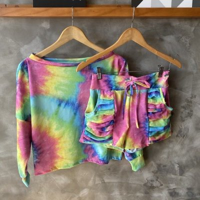 Conjunto Short Malha Tie Dye