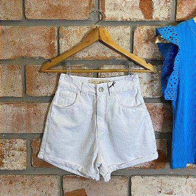 Short Mom Jeans Branco Lady Rock