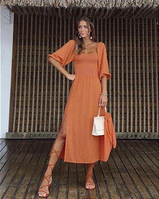 Vestido Francesca Telha