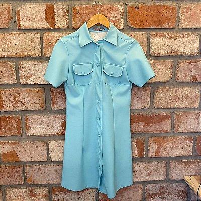 Vestido Courino Botões Forrados Tiffany