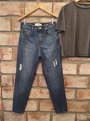 Calça Jeans Mom Escura