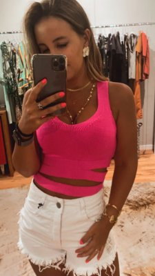 Cropped Recorte Pink Neon