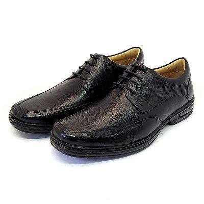 Sapato Confort com cadarço Preto Rafarillo