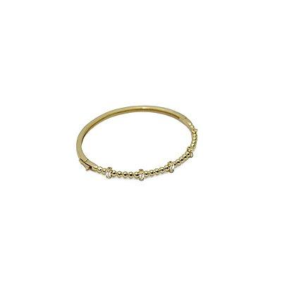 Pulseira bracelete com cristais