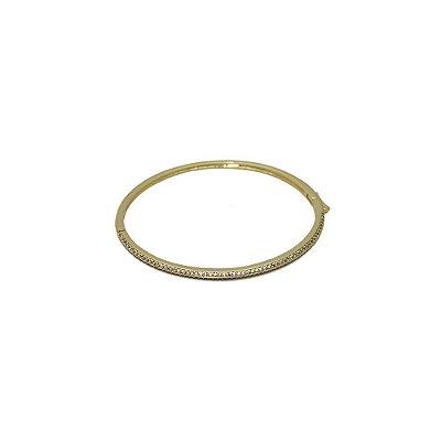 Pulseira bracelete com zircônio