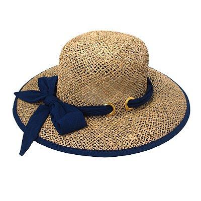 Chapéu de palha com tecido proteção U.V.