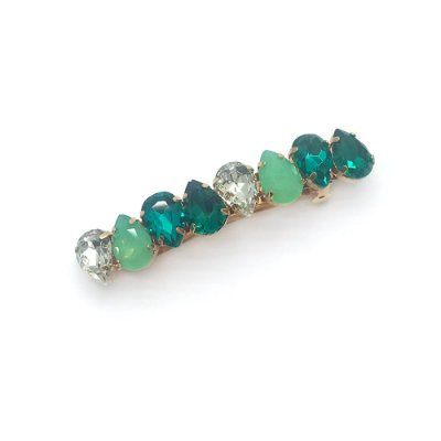 Prendedor cristal tons verde