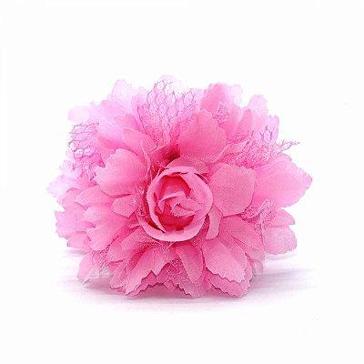 Prendedor com garra flor