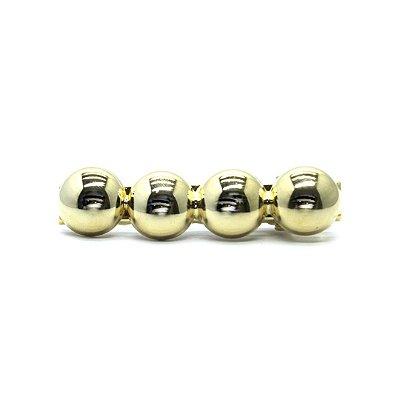 Prendedor dourado bolas