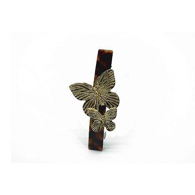 Prendedor resina barrete borboleta