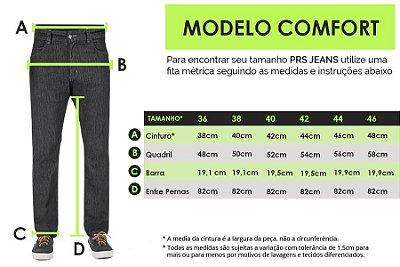 TABELA DE MEDIDAS - MASC. COMFORT