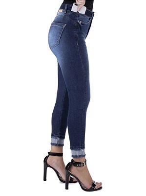 calça jeans prs capri com cinto