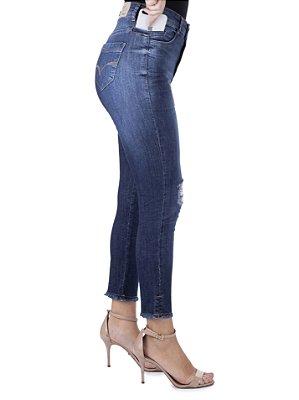 calça jeans prs capri rasgos
