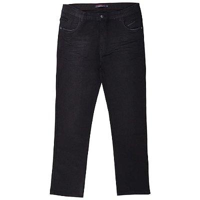 calça jeans prs plus size preta