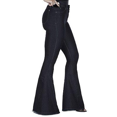 calça jeans prs max flare escura