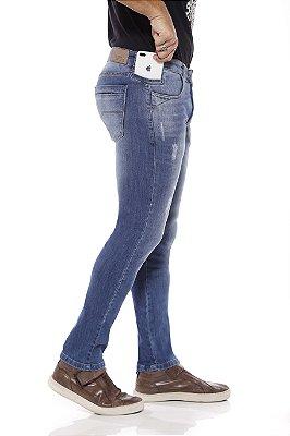 Calça jeans prs skinny clara com laser