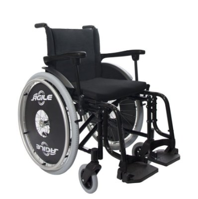 Cadeira de Rodas Jaguaribe Ágile Preto Adulto