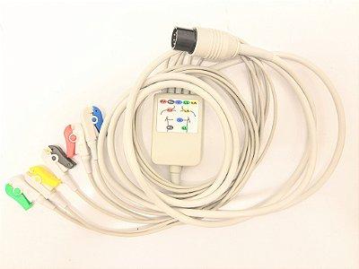 Cabo paciente 5 Vias Ecafix ECG 6 Compatível