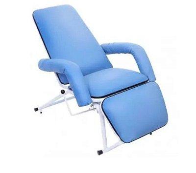 Poltrona Hospitalar Reclinável para Acompanhante Azul