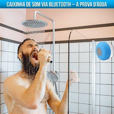 CAIXINHA DE SOM BLUETOOTH PROVA DÁGUA BANHEIRO