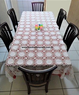 Toalha de Mesa em Crochê - Retangular 2,60 x 1,60