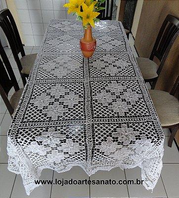 Toalha de Mesa em Renda Filé - Retangular 2,80 x 1,70