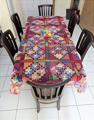 Toalha de Mesa em Renda Filé - Retangular 2,60 x 1,70
