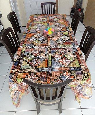 Toalha de Mesa em Renda Filé - Retangular 3,00 x 1,70