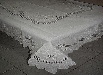 Toalha de Mesa em Crívo - Retangular 2,20 x 1,60 - 6 Cadeiras