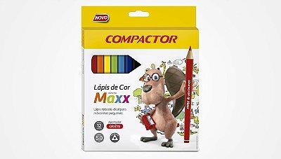 Kit Lápis de Cor Maxx 12 cores + Apontador