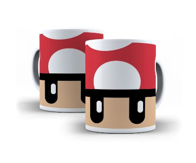 Caneca Cogumelo Mario Bros