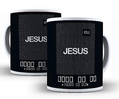 Caneca Eu e Jesus