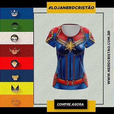 Camisa Capitã Marvel