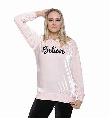 Blusa Veludo Believe