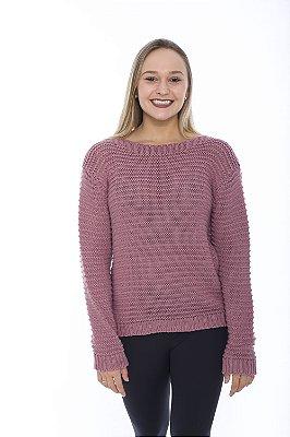 Blusa de Tricot Ampla - Rosa Antigo