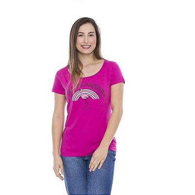 Blusa Verão Feminina Pink Flamingo